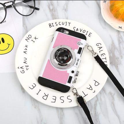 New Emily in Paris Phone Case Vintage Camera, Cover Phone, Cassa del Telefono del PC del Silicone di Progettazione della Macchina Fotografica 3D Moderna, per iPhone 7 Plus / 8 Plus, Rosa