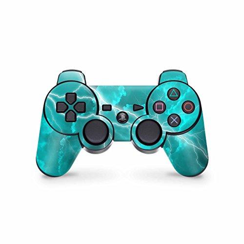 Skins4u Controller Skin Designfolie Aufkleber kompatibel mit Playstation 3 PS3 Apocalypse Türkis