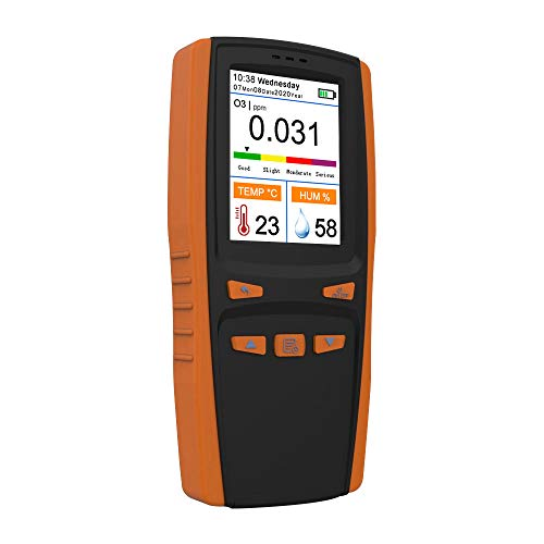 Medidor de ozono O3 KKmoon Detector de Ozono O3 Analizador de ozono portátil multifuncional Detector de aire Sensor inteligente Medidor de ozono Monitor de contaminación de calidad del aire