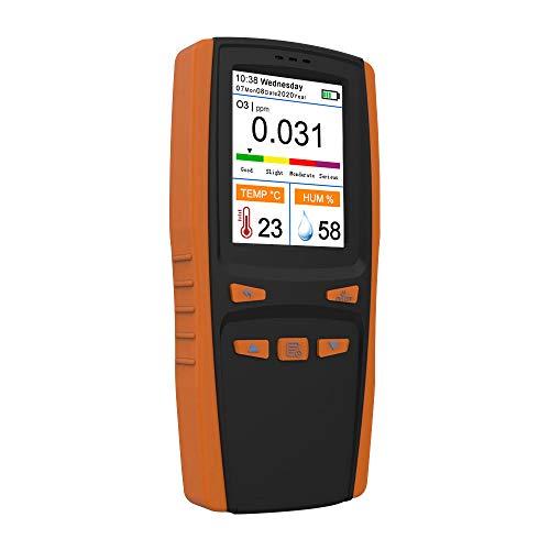 KKmoon Analizzatore di Ozono Portatile Misuratore di Ozono Multifunzione O3 Rilevatore d'Aria Sensore Intelligente Monitoraggio dell'Inquinamento della Qualità dell'Aria