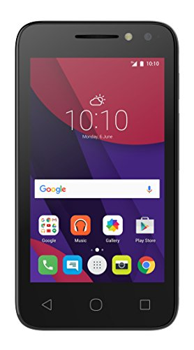 Alcatel Pixi 4-4 3G Smartphone (10,2 cm (4 Zoll), Android, 3 Megapixel Kamera, 4 GB Speicher, 32 GB SD-Karten-Slot, Dual-SIM) weiß