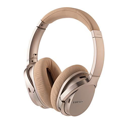 Edifier W860NB Over-Ear Bluetooth aptX-Kopfhörer mit aktiver Geräuschunterdrückung und Smart Touch – Gold