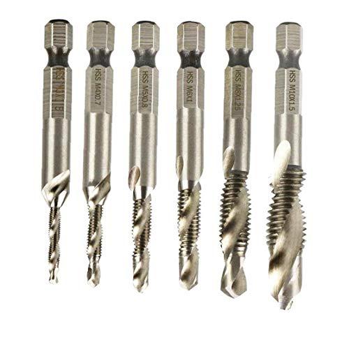 MICHAELA BLAKE Brocas Conjunto Acero de Alta Velocidad de la taladradora Sólido Punto de Brad Brocas para Metal Madera múltiples bits de utilización de la torcedura 1pcs