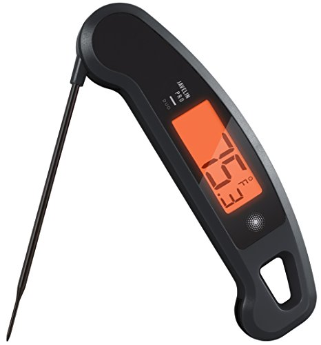 Lavatools Javelin PRO Duo Ambidextrous Backlit Professional Digital Instant Read Meat Thermometer for Kitchen, Food Cooking, Grill, BBQ, Smoker, Candy, Brewing, Coffee, and Oil Deep Frying (Stealth)
