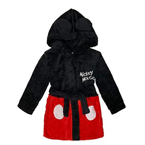 NADA HOME Bademantel für Kinder, Disney Mickey Maus aus aus Fleece mit Kapuze 3847