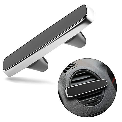 Ecotal Auto Handyhalterung mit Magnet für die Lüftung, extra stark magnetisch, passt universell für nahezu alle KFZ Lüftungsschlitze und Smartphones (Silber)