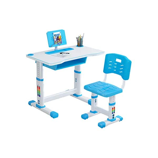 Kids Desk and Chair Set,Kids Adjustable Study Desk Chair for School Bedroom with...