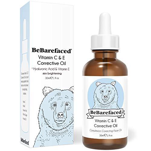Aceite facial de vitamina E de BeBarefaced – Serum nocturno de vitamina C con ácido...