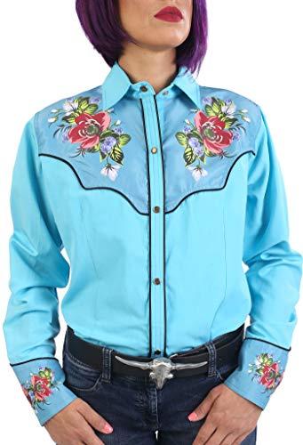 Last Rebels Country - Camisa para mujer, diseño de Western turquesa XXX-Large