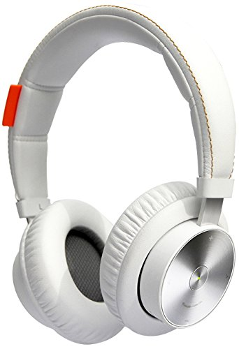 MiPow M3 Premium On-Ear Bluetooth Kopfhörer mit ausziehbarem 3,5mm Klinkenstecker, weiß