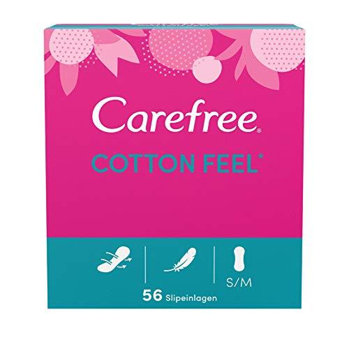 Carefree Slipeinlagen Cotton Feel ohne Duft, parfümfreie und luftdurchlässigeSlipeinlagenfür ein langanhaltendes Frischegefühl in Größe: S/M (5 x 56 Stück)