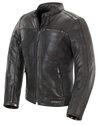Joe Rocket Women's Ladies Vintage Leather Jacket (Black, Large)