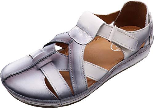 MICCOS Shoes Slipper D.Sandalette in Silber-grau, Größe 39.0,