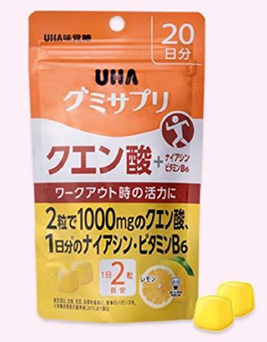 UHAグミサプリクエン酸レモン味スタンドパウチ40粒20日分