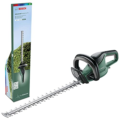 Bosch Hedge trimmer AdvancedHedgeCut 70 (500 W, Blade Length: 70 cm, for Large Hedges, Corded, Tooth Opening: 34 mm, in Carton)