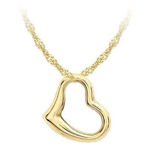 Carissima Gold Collana con Pendente da Donna in Oro Giallo 9K