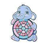 Perfeclan Tablero de Dardos de Bola pegajosa de Blanco clásico con Gancho Creativo Lanzamiento Actividad Navidad Juego Educativo Regalos para niños niñas - Elefante