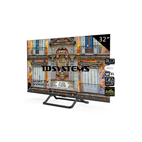 TD Systems Televisor Smart TV Android 9.0 y HBBTV, 800 PCI Hz, 3X HDMI, 2X USB. DVB-T2/C/S2, Modo Hotel - K32DLX10HS [Clase de eficiencia energética A+] 32 Pulgadas