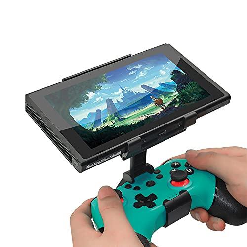 Controller Mobile Gaming Clip, Soporte De Montaje del Clip para N-Switch Pro Controller Manija Soporte Abrazadera Ajustable Gire Los Stents para Los Accesorios De NS Pro Gamepad