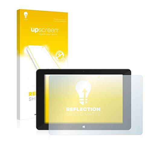 upscreen Entspiegelungs-Schutzfolie kompatibel mit TrekStor SurfTab Duo W1 – Anti-Reflex Bildschirmschutz-Folie Matt