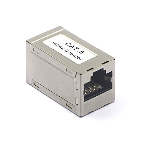 VCELINK RJ45 Kupplung Cat6 RJ45 Verbinder Netzwerk Verbinder Modular Geschirmt RJ45 Buchse Adapter für Verlängerung Ethernet Kabel 1 Stück