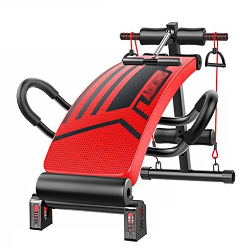 Fitnessgeräte Verfeinerte Sit-Up-Bank Für Bauchmuskeltraining, Mit Reverse-Curling-Griffen, Bauchtrainer (Color : Red, Size : 125 * 31CM)