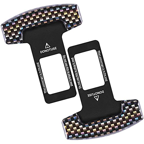 2 Pack Car Seat Belt Clip, Universal Car Seat Belt Silencer Metal Tongue, Seat Safety Belt Buckle Auto Metal Seat, Universal for Most Vehicle (Black)