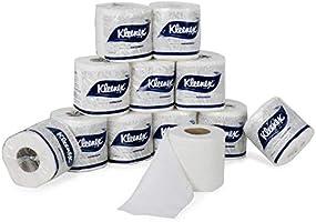 KLEENEX® Toilet Tissue 60049 - 2 ply Toilet Paper - 12 Toilet Rolls x 160 Toilet Tissue Sheets - Sheet Size 11 x 10 cm...
