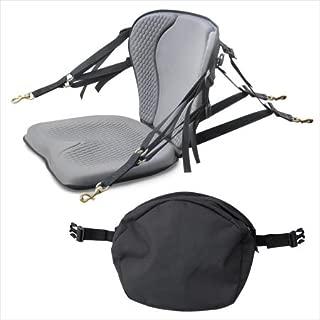 Surf To Summit GTS Pro Molded Foam Kayak Seat W/Zipper Pack, Sit On Top Kayak Seat, Back Support Kayak Seat, Kayak Cushion