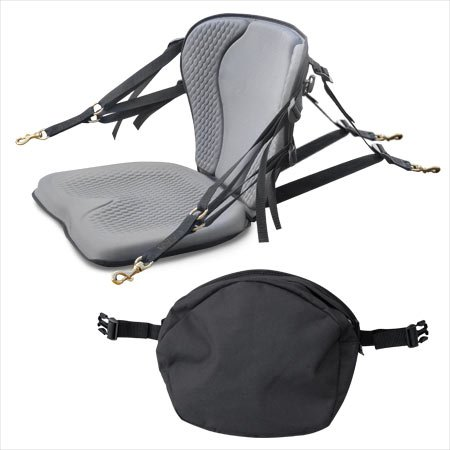 Surf To Summit GTS Pro Molded Foam Kayak Seat W/Zipper Pack, Sit On Top Kayak Seat, Back Support...