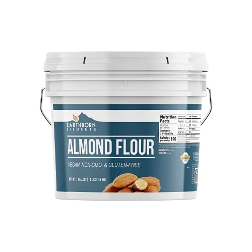 Almond Flour (1 Gallon) No Additives & Gluten-Free, Blanched, Ground, Vegan, Paleo & Keto Friendly, Strong Resealable Bucket