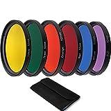 QWLHZW Tongqiang. 40.5mm 43mm 46mm 52mm 55mm 58mm 62mm 67mm 72mm 77mm 82mm Filtri a Colori Set per Canon Sony Nikon Fotocamera Accessori per Lenti (Caliber : 72mm, Color : 6 in 1)