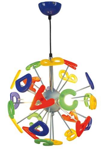 Naeve Leuchten, Lampada a sospensione per la stanza dei bambini, glühlampe, metallo, verde