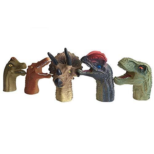 YDOZ Spielzeuge 5 stücke Mini Dinosaurier tragbare Cartoon Dinosaurier Finger Puppe Finger Spielzeug Puppe...
