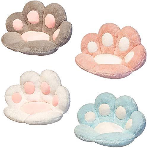 2021 Cat Paw Cushion Cute Seat Cushion,Cute Cat Paw Plush Chair Child Cushion Seat Cushion Sofa Back Pillow Mat for Home/Office (Gray, 70x60cm)