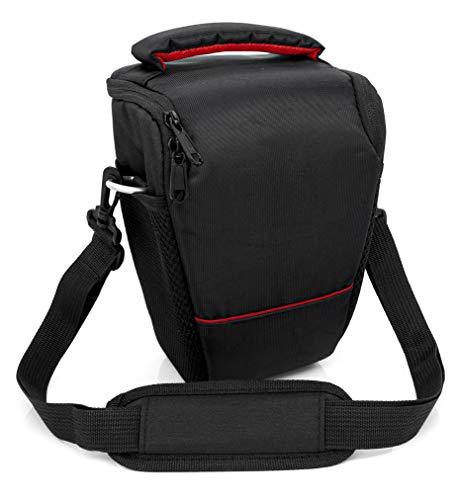 MyGadget Spiegelreflex DSLR/SLR Kameratasche mit Tragegurt, Gürtelschlaufen, Zubehör Fächer für z.B. Nikon, Canon, Sony Kamera - Wasserdicht Schwarz