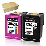 HaLuoYingKe 304 XL Remanufacturado Cartuchos de Tinta Compatible con HP 304XL para HP Deskjet 2630 2633 3700 2632 2620 3720 3730 3732 Envy 5032 5020 5030 (1 Negro 1 Tri-Color)