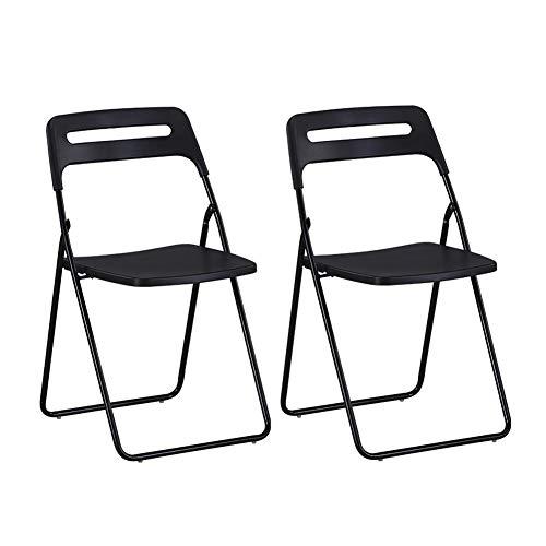 Dall Chaises Chaise Pliante Ménage Chaise D'ordinateur Bureau Personnel De Formation Pack-2 (Couleur : Noir)