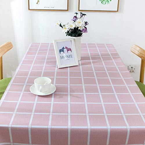 DJUX Mantel Impermeable a Cuadros de Color Puro, Anti-escaldaduras, a Prueba de Aceite, Mantel de té desechable, Mantel 140x140cm