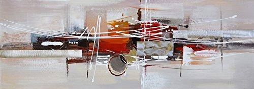 ETA-BL Tableau Abstrait. Peinture sur Toile. Tableau Panoramique Contemporain. Dimensions 60 X 120 cm. Peint Main. Signé. sur Châssis