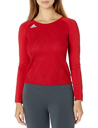 adidas Quickset Langarmtrikot, Unisex-Kinder Jungen, Quickset Long-Sleeve Jersey, Power Red/Power Red/White, Medium