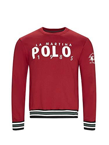 La Martina OMF312 FP175 Sweatshirt Man Rot XL