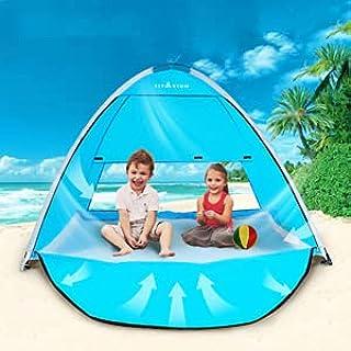 TIYASTUN Strandtält, pop-up med dragkedja, dörr, vikbar på några sekunder, strandskärm, tältbaldakin, för 1–3 personer, U...
