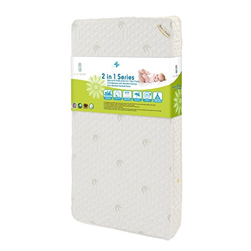 Buy Cheap LA Baby Natural IV Triple Zone 2 in 1 Soy Foam Crib Mattress with Blended Visco Bamboo Qui...