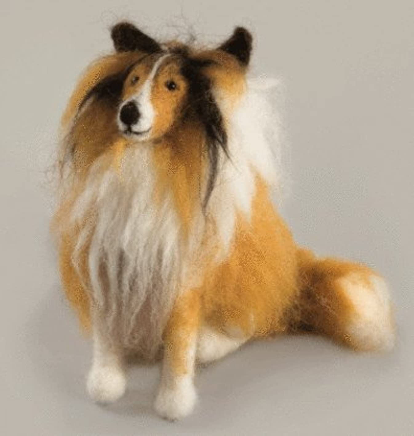 Felting kit Charivna mit #B-150 Animals Dog Colly 14x11 cm / 5.51x4.33 in pmqveniuszs271