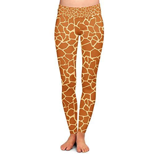 Giraffe Print Yoga Leggings - M