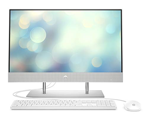 HP 24-dp0005ng (23,8 Zoll / Full HD) All-in-One PC (AMD Ryzen 3 4300U, 8GB DDR4 RAM, 512 GB SSD SSD, AMD Radeon RX Vega 5, Windows 10) silber