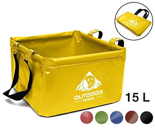 Outdoor Faltschüssel 15 Liter Waschschüssel (03 Gelb)