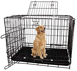 RvPaws Black Cage/Crate/Kennel with Removable Tray for Dogs/Cats,/Rabbit 36 inch (3 Foot)
