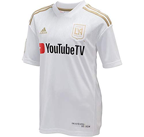 adidas LAFC 2018 Away Youth Jersey- White/Gold YXL